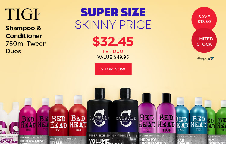 TIGI Bedhead & Rockaholic 750ml duos for $32.45 Only at Catwalk Australia